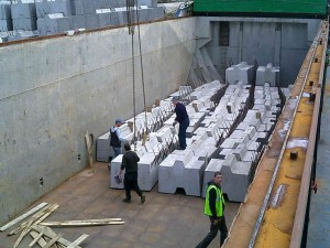 concrete blocks project cargo martin butterly shipping agent